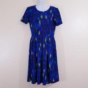 Lularoe Amelia Leaf Print Dress